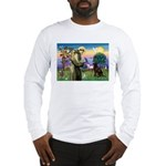 St Francis Chocolate Lab Long Sleeve T-Shirt