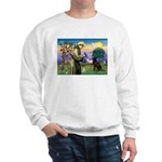 St Francis Chocolate Lab Sweatshirt