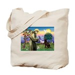 St Francis Chocolate Lab Tote Bag