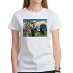 St Francis Chocolate Lab Women's T-Shirt