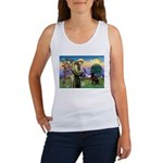 St Francis Chocolate Lab Women's Tank Top