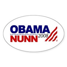Obama Nunn 2008 Oval Sticker (50 pk)