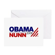 Obama Nunn 2008 Greeting Cards (Pk of 10)