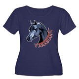 Black Arabian Stallion Women's Plus Size Scoop Nec