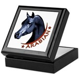 Black Arabian Stallion Keepsake Box