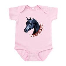 Black Arabian Stallion Infant Bodysuit