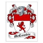 McCombie Family Crest Small Poster
