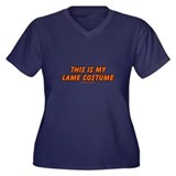 This Is My Lame Costume Women's Plus Size V-Neck D