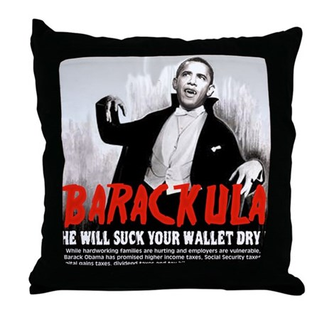anti obama humor Throw Pillow