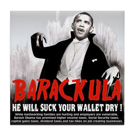 anti obama humor Tile Coaster