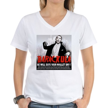 anti obama humor Women's V-Neck T-Shirt