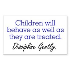 Discipline Gently. Rectangle Stickers