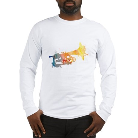 Paint Splat Mellophone Long Sleeve T-Shirt