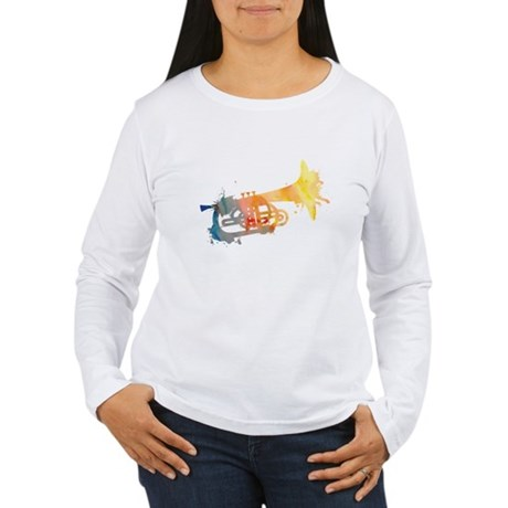 Paint Splat Mellophone Women's Long Sleeve T-Shirt
