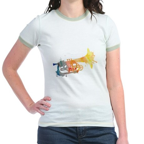 Paint Splat Mellophone Jr. Ringer T-Shirt