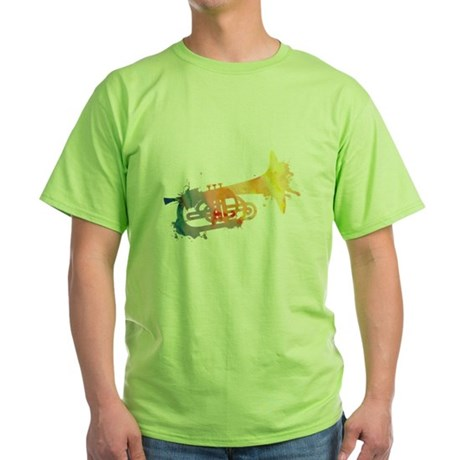 Paint Splat Mellophone Green T-Shirt