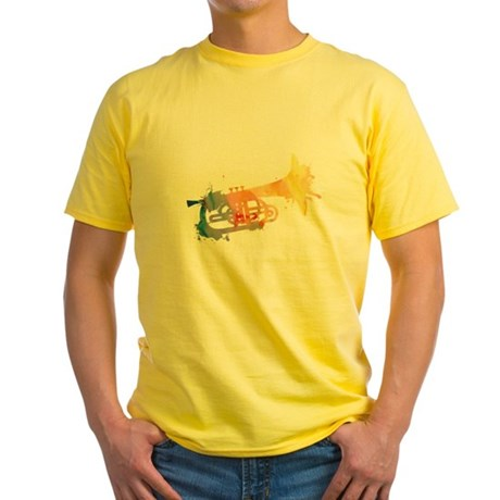 Paint Splat Mellophone Yellow T-Shirt