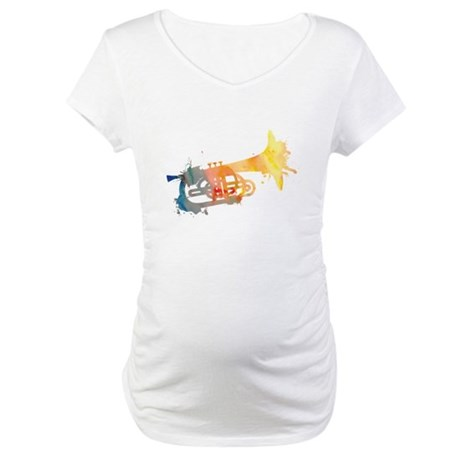 Paint Splat Mellophone Maternity T-Shirt