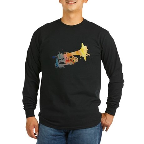 Paint Splat Mellophone Long Sleeve Dark T-Shirt