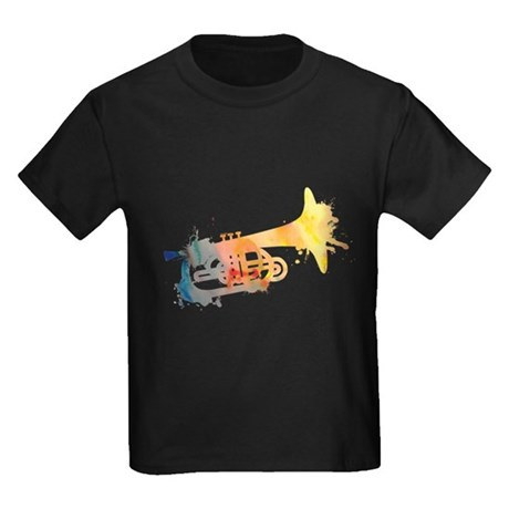 Paint Splat Mellophone Kids Dark T-Shirt