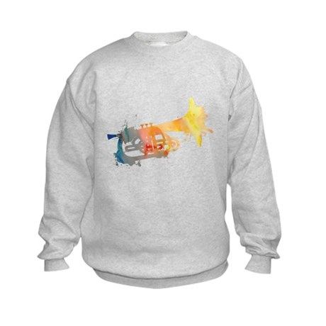 Paint Splat Mellophone Kids Sweatshirt