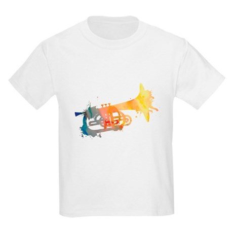 Paint Splat Mellophone Kids Light T-Shirt