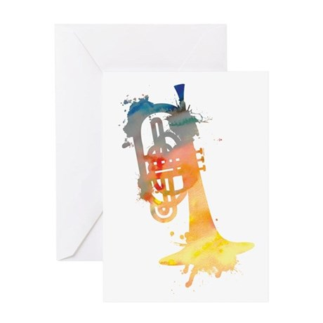 Paint Splat Mellophone Greeting Card