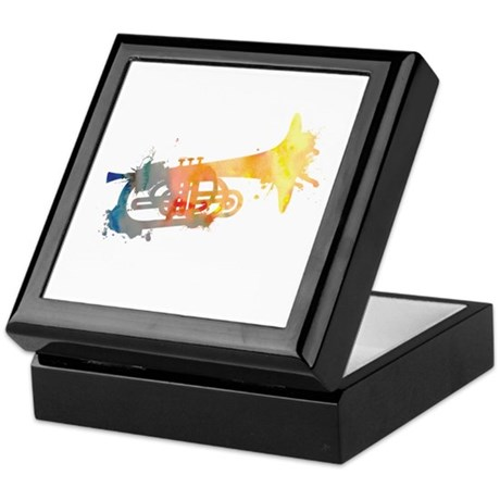 Paint Splat Mellophone Keepsake Box