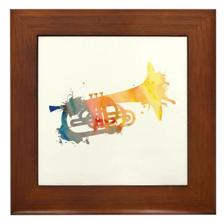 Paint Splat Mellophone Framed Tile