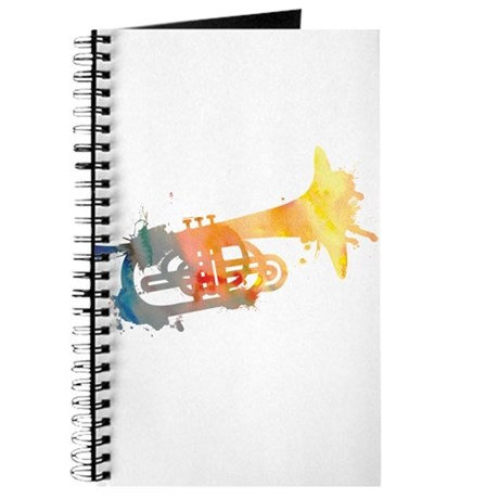 Paint Splat Mellophone Journal