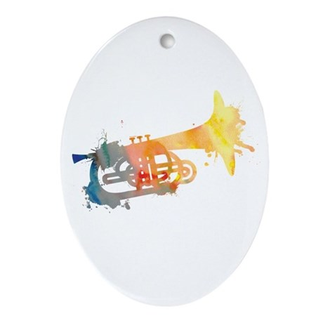 Paint Splat Mellophone Ornament (Oval)