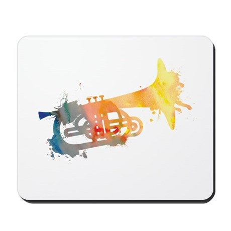 Paint Splat Mellophone Mousepad