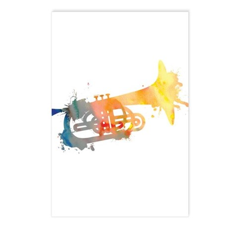 Paint Splat Mellophone Postcards (Package of 8)