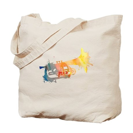 Paint Splat Mellophone Tote Bag