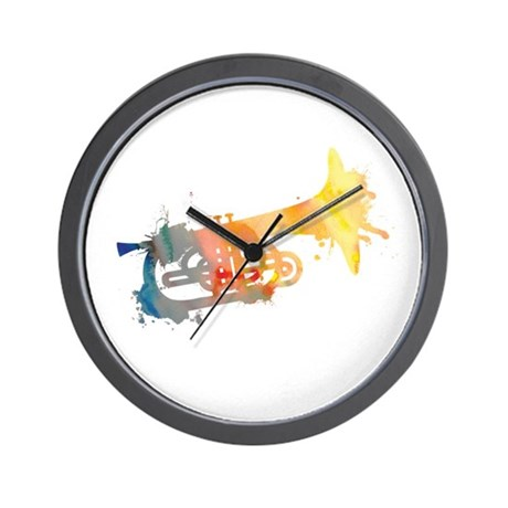 Paint Splat Mellophone Wall Clock