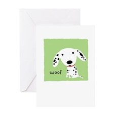 Dalmatian Woof Greeting Card