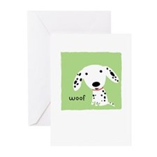 Dalmatian Woof Greeting Cards (Pk of 10)