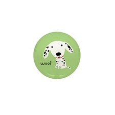 Dalmatian Woof Mini Button (100 pack)