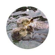 Sea Otter Love Keepsake (Round)