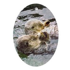 Sea Otter Love Keepsake (Oval)