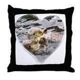 Sea Otter Love Throw Pillow