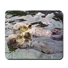Sea Otter Love Mousepad
