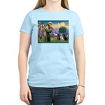 St. Francis/3 Labradors Women's Light T-Shirt