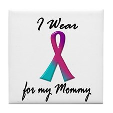 Thyroid Ribbon 1 (Mommy) Tile Coaster