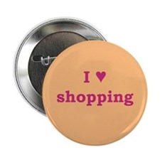 "I Heart Shopping 2.25"" Button"