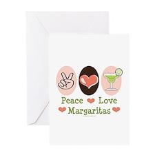 Peace Love Margarita Greeting Card