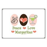 Peace Love Margarita Banner