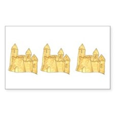 Sandcastles Rectangle Decal
