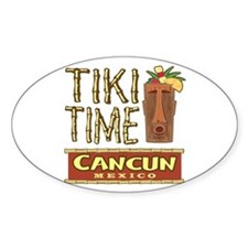 Cancun Tiki Time - Oval Decal