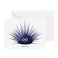 Purple Sea Urchin Greeting Cards (Pk of 10)